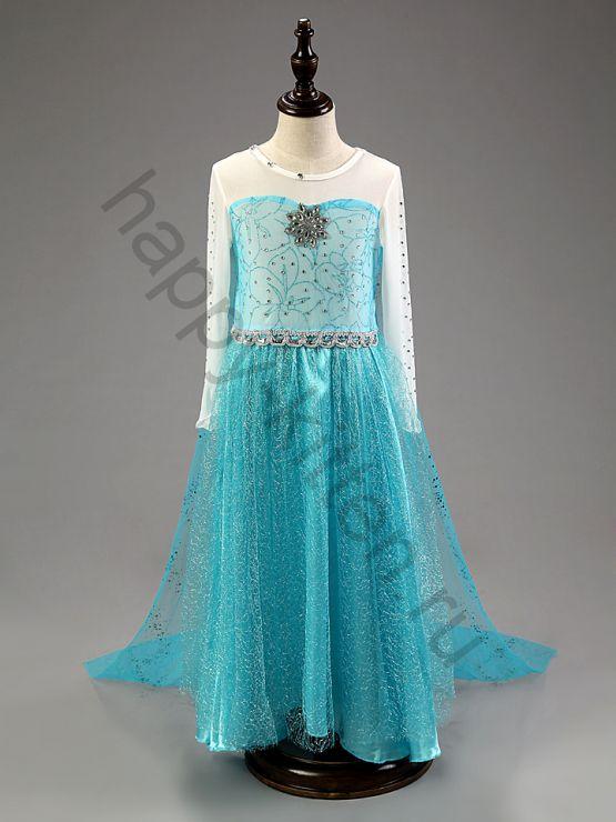 Карнавальное платье  Эльзы юбка в пол