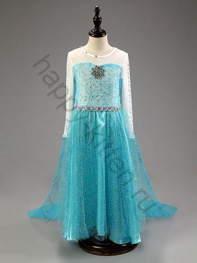 Карнавальное платье  Эльзы в пол! рост  110 - 140  см