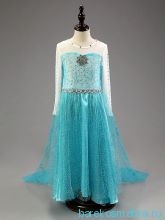 Бирюзовое платье Эльзы на рост 140 см