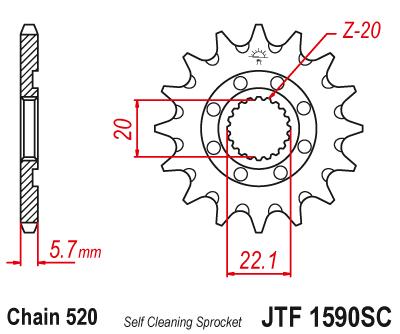JTF 1590SC, звезда ведущая, самоочищающаяся