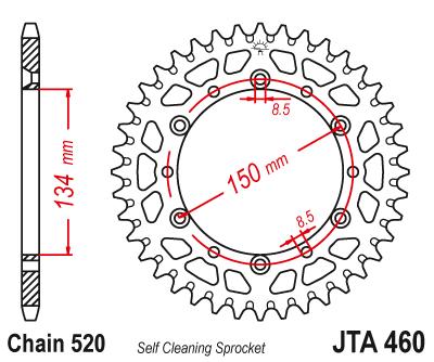 JTA 460, звезда задняя алюминий