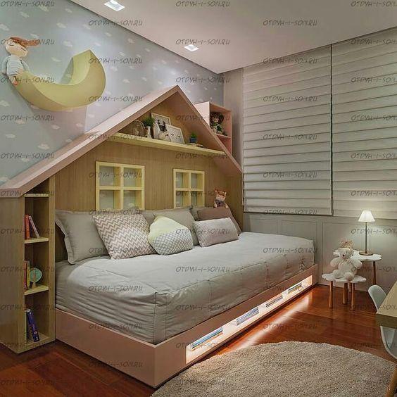 Кровать Домик для девочки Butterfly №IR6 (любые размеры)