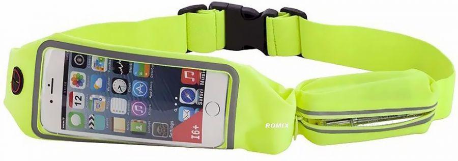 "Спортивный чехол на пояс Romix Touch Screen Waist Bag (RH16-4.7BLU) для смартфона 4.7"" (Green)"