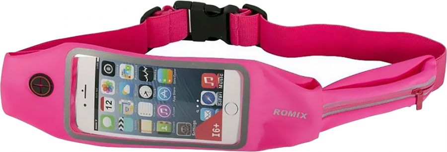 "Спортивный чехол на пояс Romix Touch Screen Waist Bag (RH16-4.7BLU) для смартфона 4.7"" (Pink)"