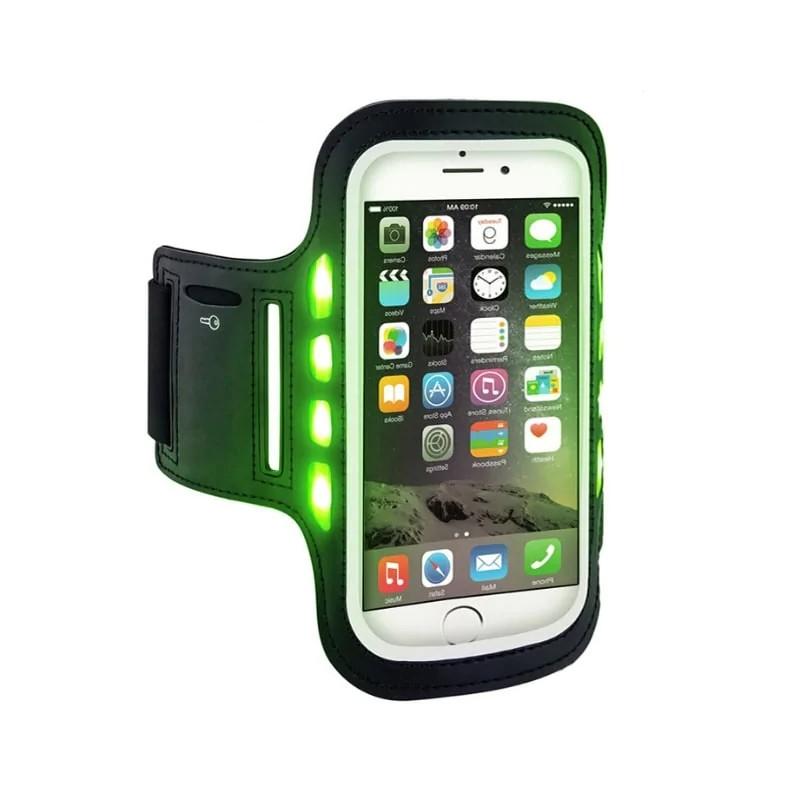 Спортивный чехол на руку для телефона LDH светодиодный черный a014841