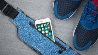Спортивный чехол на пояс Momax XFIT Fitness Belt (SR2) для смартфона (Blue) фото4