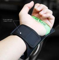 "Чехол спортивный на руку Baseus Flexible Wristband (CWYD-A06) для смартфонов 5"" (Black/Green) фото6"