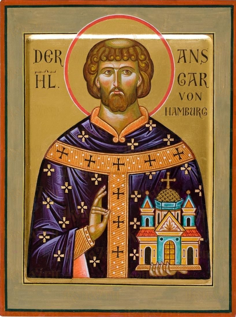 Икона Ансгар Гамбургский святитель