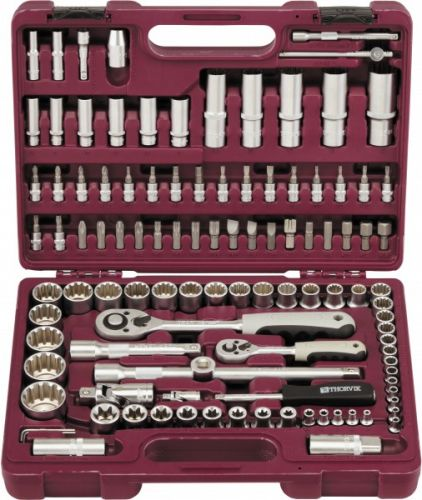 """UTS0108MP Набор инструмента универсальный 1/4"""", 1/2""""DR с головками торцевыми MultiProf, 108 предметов"""
