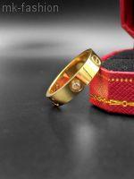 Cartier кольцо Love Gold фианит