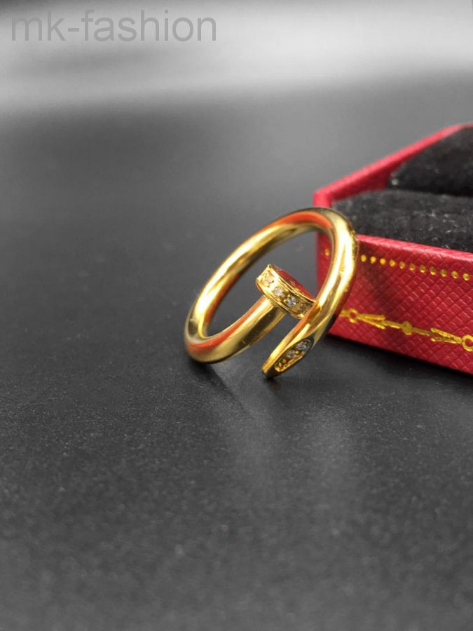 Cartier кольцо гвоздь Gold фианит