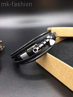 Мужской кожаный браслет топор
