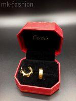 Cartier love серьги Gold