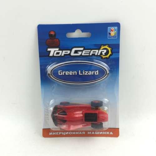 1toy Top Gear Пластиковая инерционная машинка Green Lizard, блистер