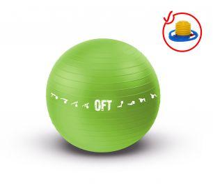 Гимнастический мяч для коммерческого использования Original Fittools FT-GBPro-65GN (65 см)