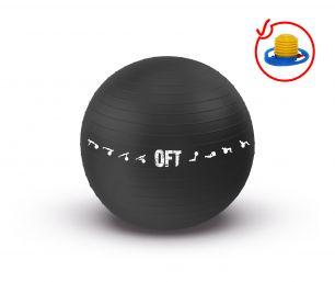 Гимнастический мяч для коммерческого использования Original Fittools FT-GBPro-75BK (75 см)