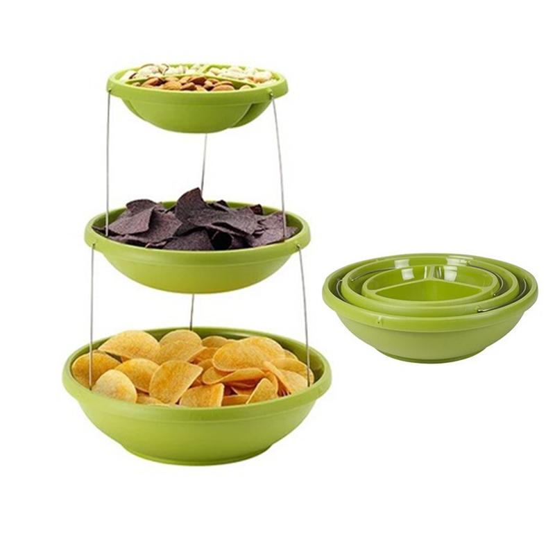 Складная пластиковая ваза Twistfold Party Bowls 3 яруса