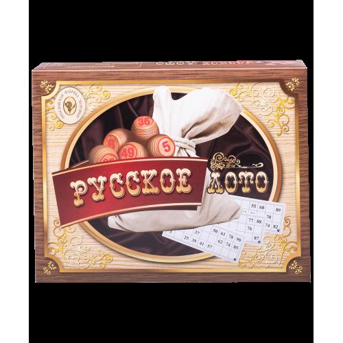 Русское лото в коробке (деревянные бочонки) 052-11