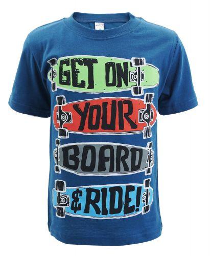 "Футболка для мальчика Bonito kids ""skaters"" 4-8 лет синяя"