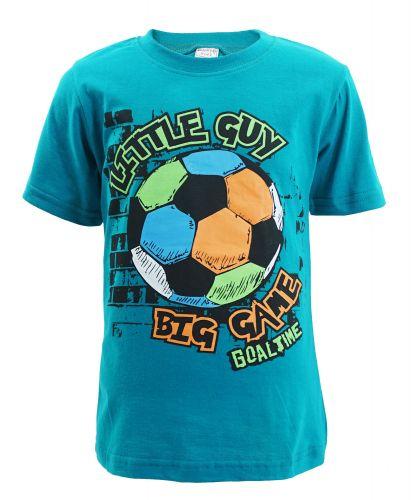 "Футболка для мальчика Bonito kids ""Big Game"" 4-8 лет темно-бирюзовая"
