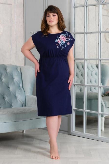 Платье арт.0875 темно-синий, кулирка
