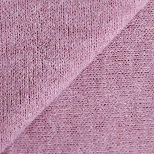 Лоскут трикотажной ткани вязаный - пыльная роза