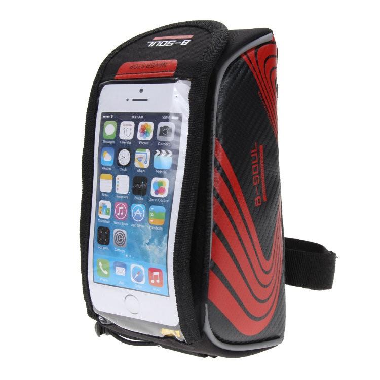 Велосипедная сумка на раму под смартфон B-Soul, 21х9,5х9,5 см, цвет Синий