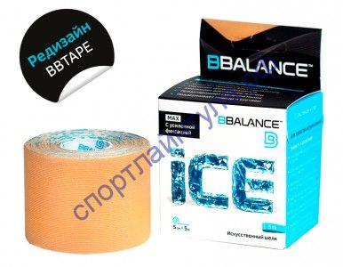 Кинезио тейп BBTape™ ICE 5см × 5м бежевый шелк
