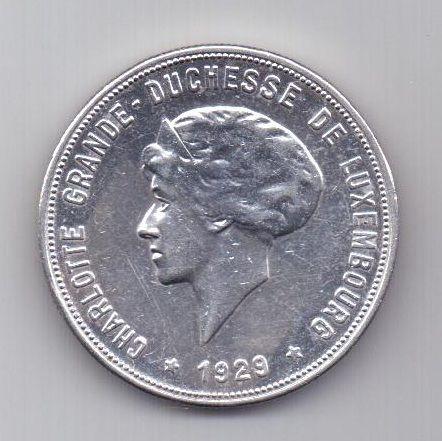 10 франков 1929 года AUNC Люксембург