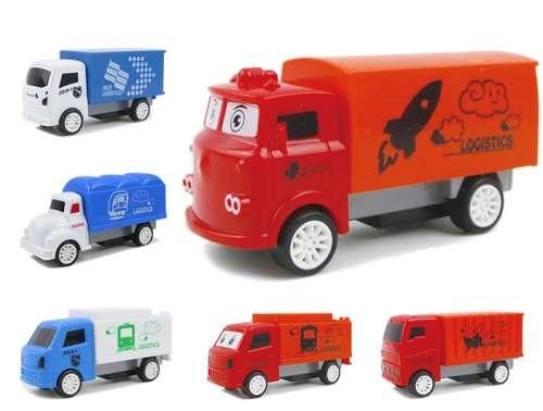 1Тoy мелочь а приятно, машинки инерционные-грузовики в ассортименте, 18 шт в дисплее
