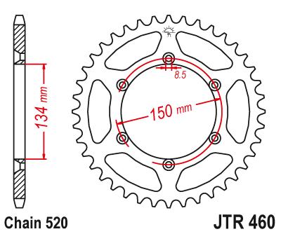 JTR 460, звезда задняя сталь