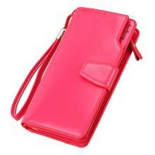 Кошелёк Woman Baellerry Wallet PU Clutch Bag, Малиновый