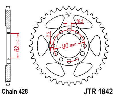 JTR 1842, звезда задняя сталь