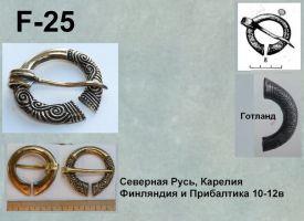 F-25. Северная Русь, Карелия, Прибалтика 10-11 век