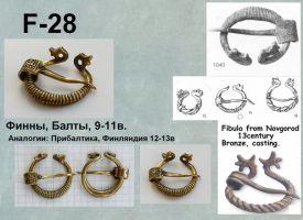 F-28. Фины, Балты 9-11 век