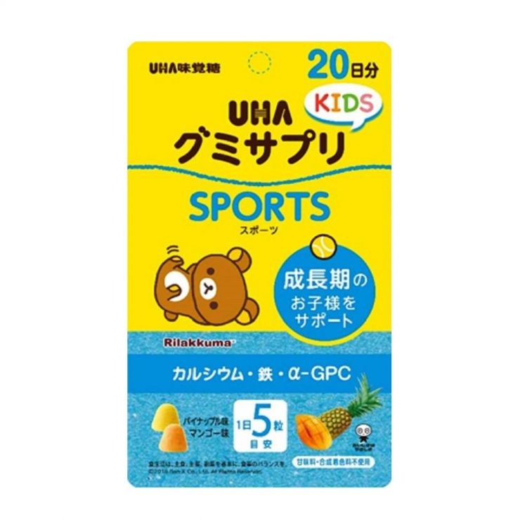 UHA Sports Витамины для Детей со вкусом Манго и Ананаса, 20 дней