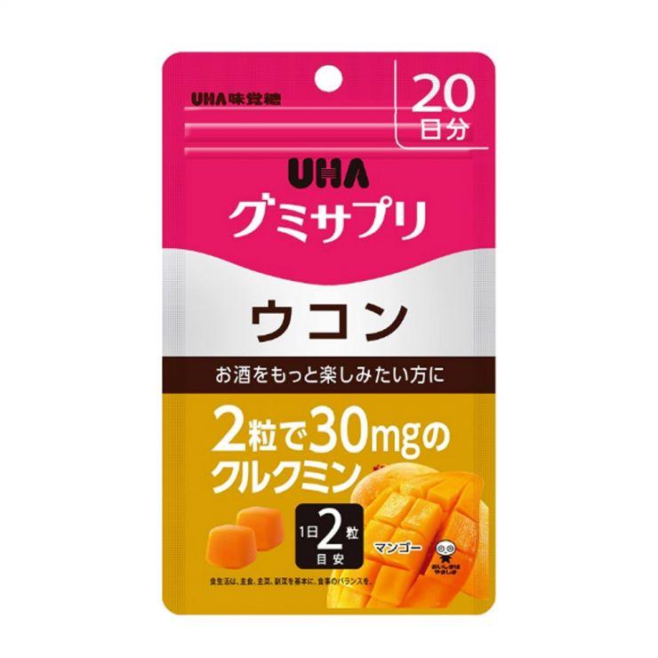 UHA Куркумин со вкусом Манго, 20 дней