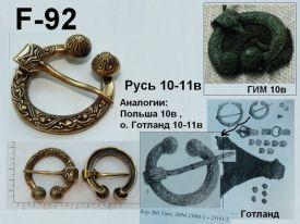 F-92. Русь 10-11 век
