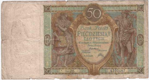 50 злотых 1929 года Польша