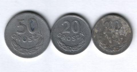 Набор монет Польша 1949-1975 г. 3 шт.