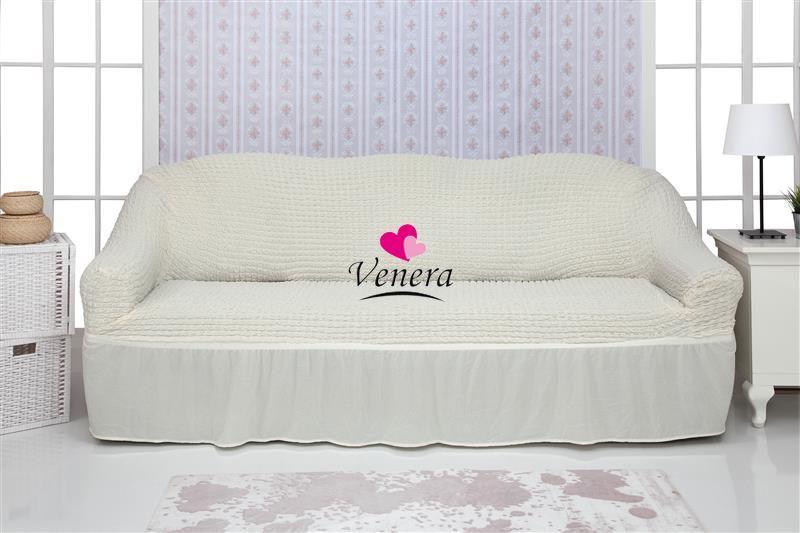 Чехол на 3х-местный диван с оборкой (1шт.) , Натурал