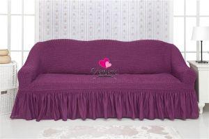 Чехол на 3х-местный диван с оборкой (1шт.) , Фиолетовый