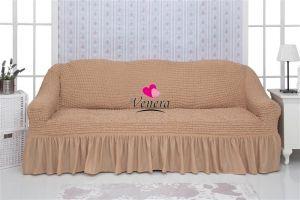 Чехол на 3х-местный диван с оборкой (1шт.) медовый
