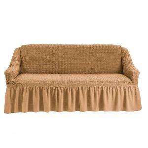 Чехол на 4-х-местный диван с оборкой (1шт.),Медовый