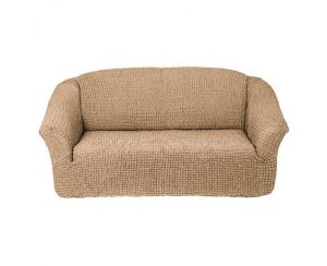 Чехол на 2х-местный диван без оборки,Бежевый
