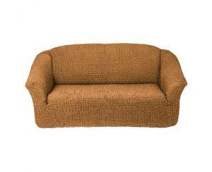 Чехол на 2х-местный диван без оборки,Горчичный