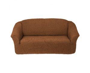 Чехол на 2х-местный диван без оборки,Коричневый