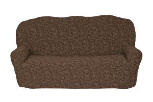 Чехол на 3х-местный диван без оборки ,  KAR 013-01 A.Kahve