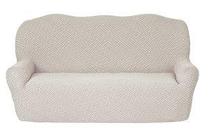 Чехол на 3х-местный диван без оборки , KAR 011-02 Krem