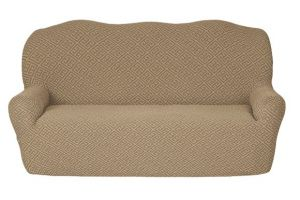 Чехол на 3х-местный диван без оборки , KAR 011-03 Bej